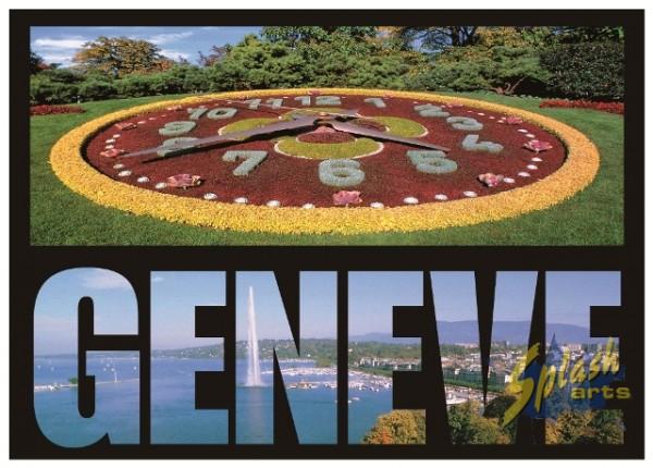 Genève flower clock Magnet new