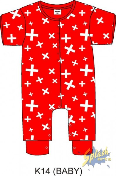 Baby Body Cross red -18M