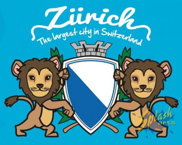 Zürich lion blue 4