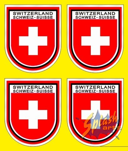 Switzerland Stickers klein