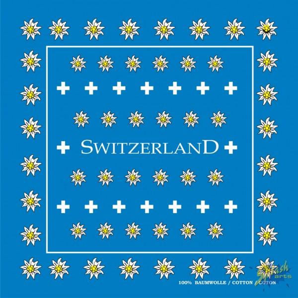 Bandana Edelweiss blau 50cm x 50cm
