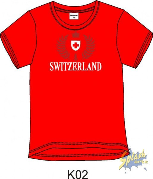 T-Shirt Boy T/T Switzerland Embroidery rot-10Y