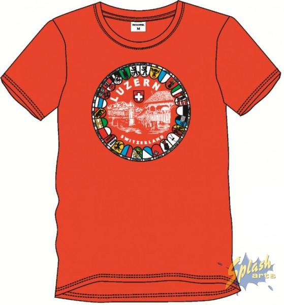 T-Shirt Kap.Br. Wap 10 Rot-L