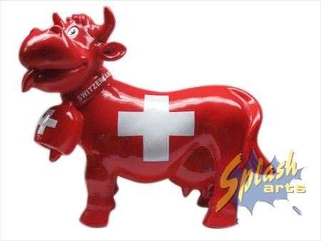 tirelire Funny cow rouge moyenne