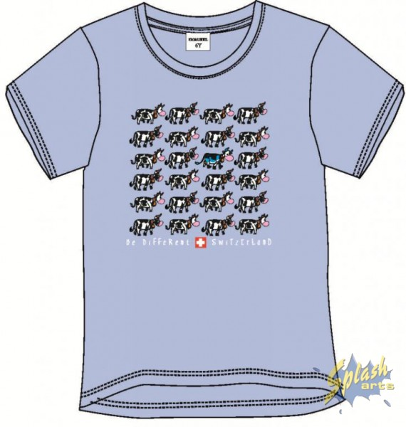 Kids Cow blue-8Y
