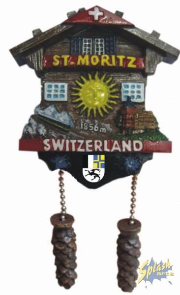 St. Moritz cuckoo clock magnet