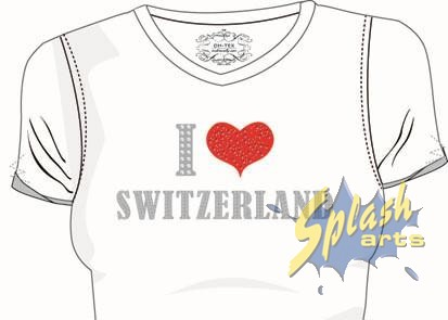I love Switzerland Dames blanc S