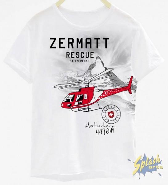 Zermatt/Helikopter Kinder weiss 6