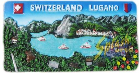 Lugano Panorama Magnet