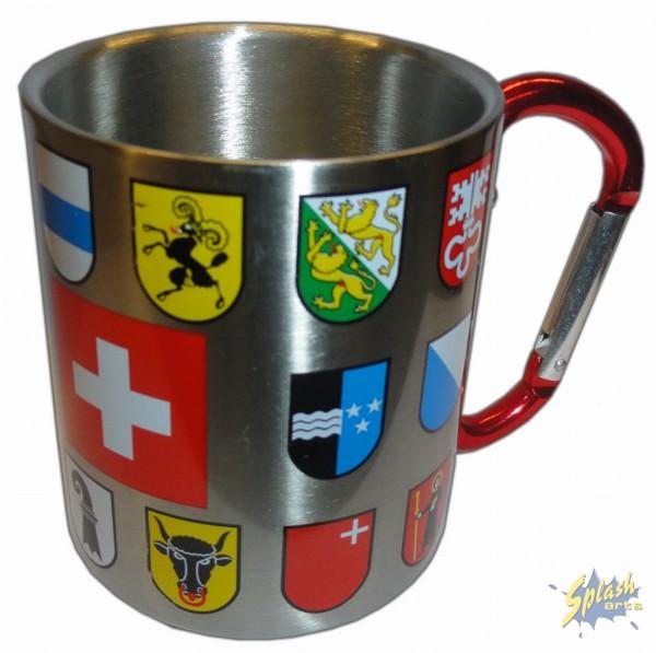 carabiner metal mug