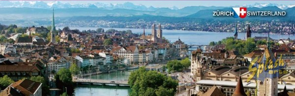 Zurich panorama flat picture magnet