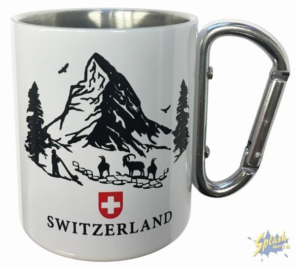 paper cut carabiner mug