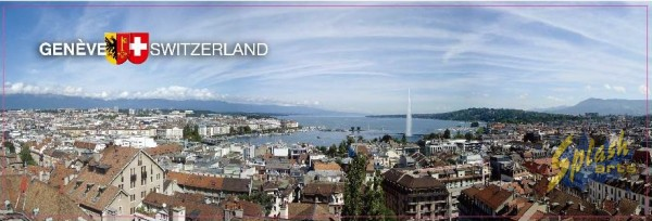 aimant plat Genève panorama