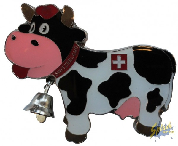 Funny cow mit Glocke Magnet