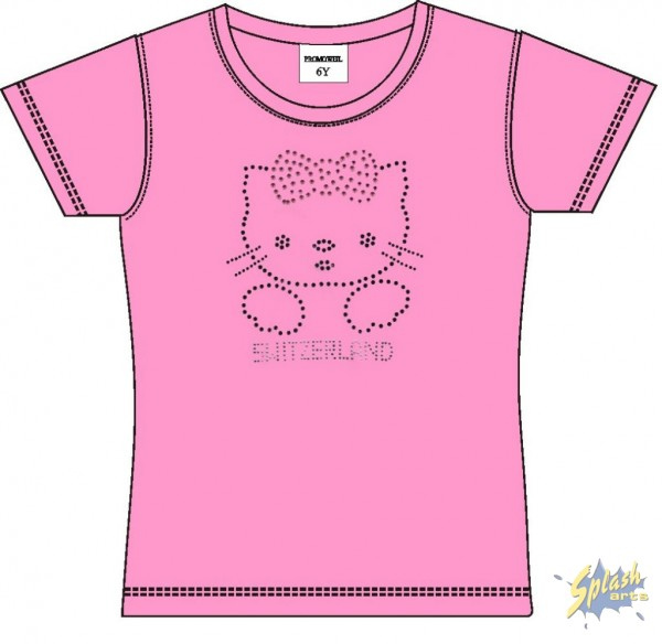Girly Kitty Pink-8Y