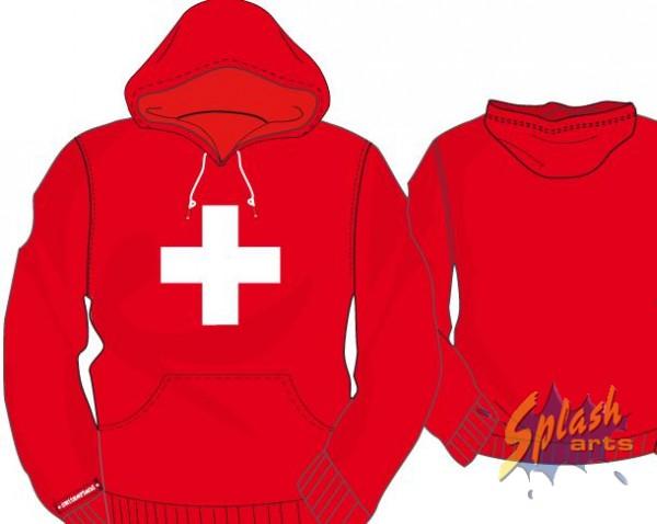 Hoody Helvetica rouge 10