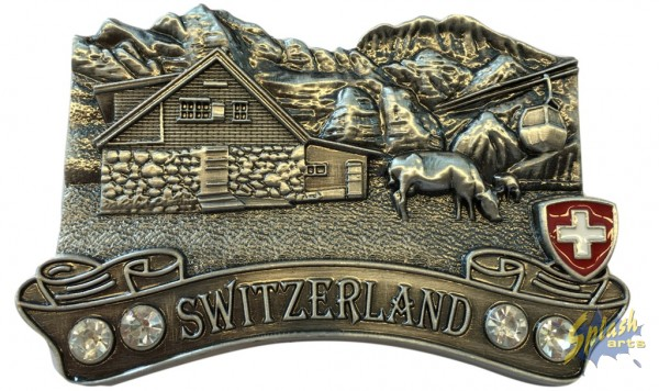 Chalet Metall Magnet