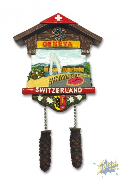 Genf Bild chalet Magnet