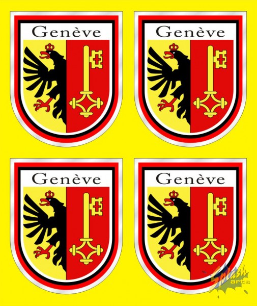 Sticker of Geneva banner
