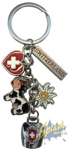 key ring cow, bell, heart,flower