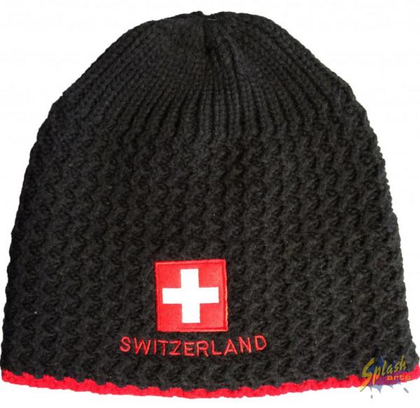 Mütze Switzerland schwarz