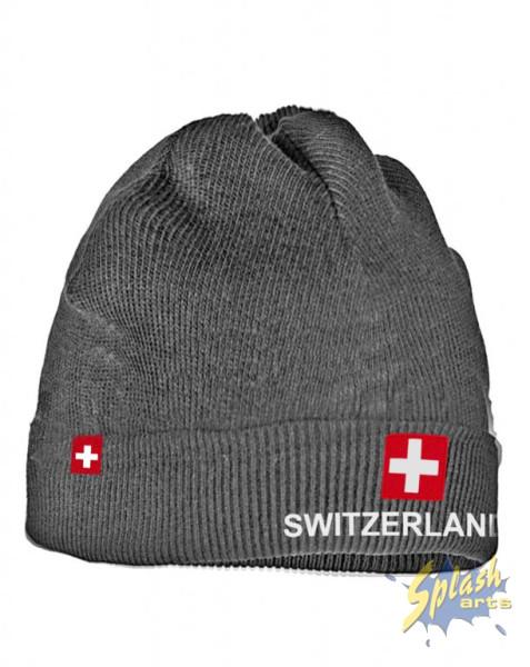 chapeau Switzerland grau
