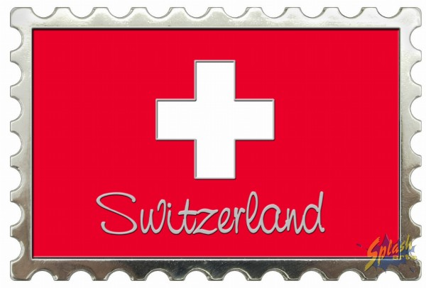 Swiss Metall Magnet stamp