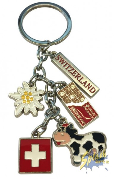 key ring cow, bell, cross ,flower