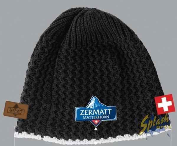 Mütze schwarz Matterhorn