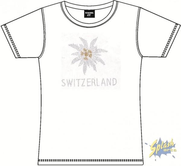 Kids Edelweiss Strass weiss-6Y