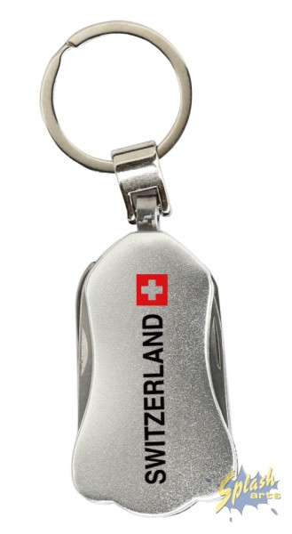 key ring multitool silver