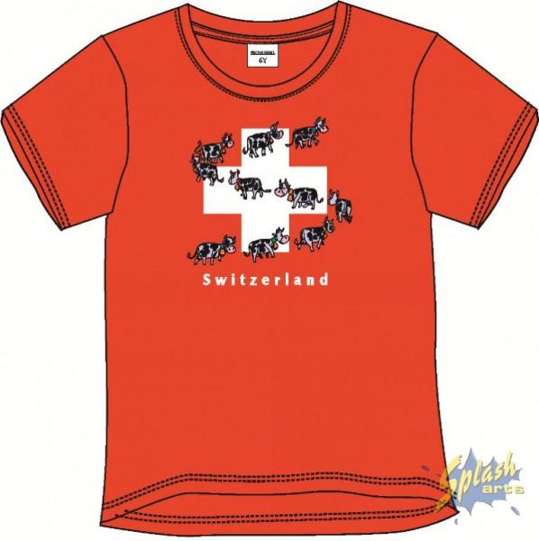 Kids Print Cow Parade rouge -2Y