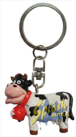 Funny cow key ring