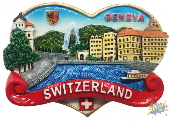 Genf Herz Magnet