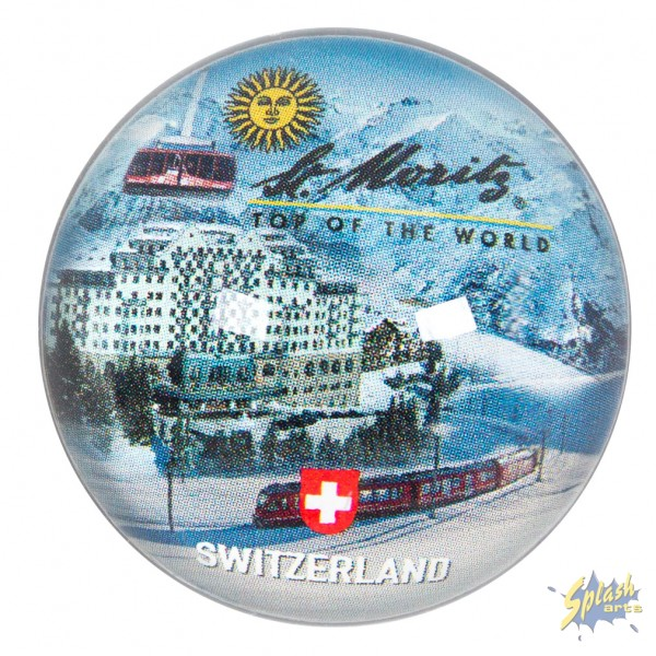 St. Moritz Glasmagnet rund