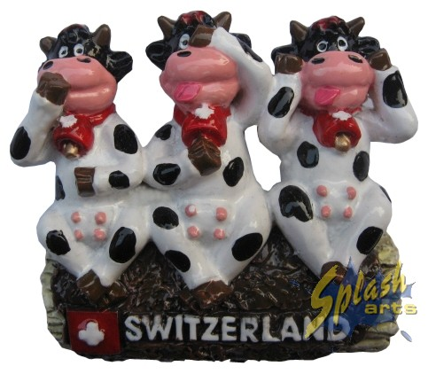 Funny cow trio Magnet