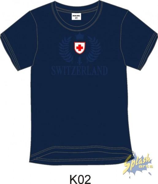 T-Shirt Boy T/T Switzerland Embroidery dunkelblau-12Y