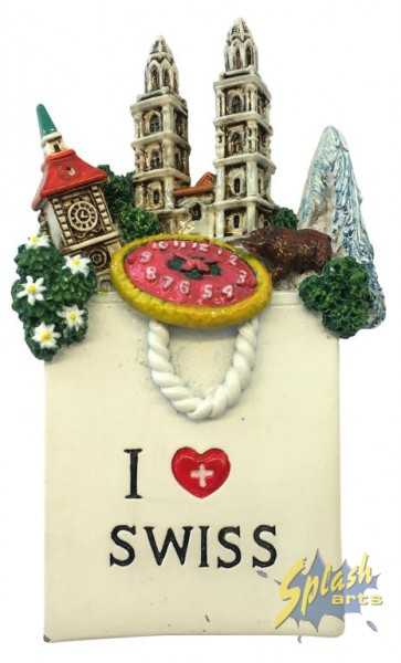 Bag Switzerland magnet