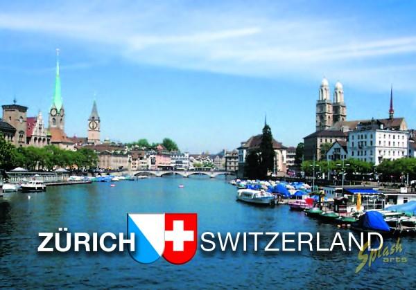 Zurich flat picture magnet Limmat