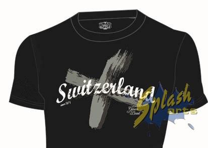 Switzerland Cross schwarz L