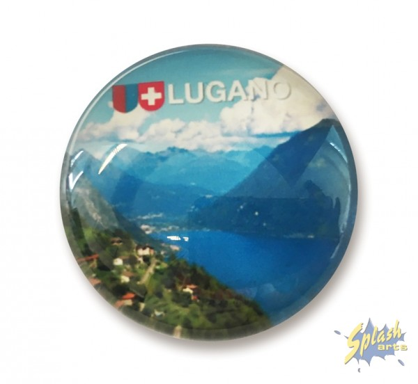 Lugano Glasmagnet rund