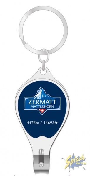 porte-clés coupe-ongles rond Matterhorn Logo