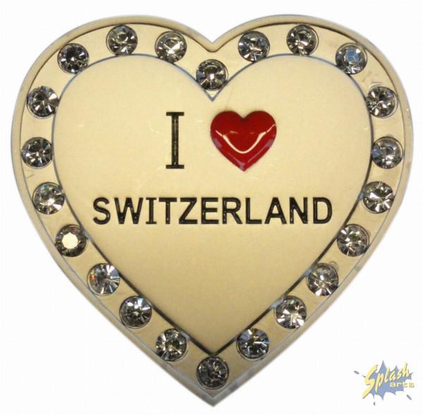 I Love Switzerland Herz Magnet