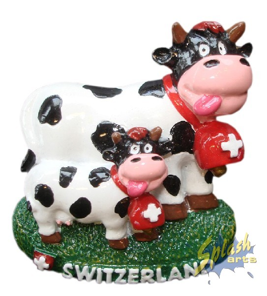Double funny cow magnet