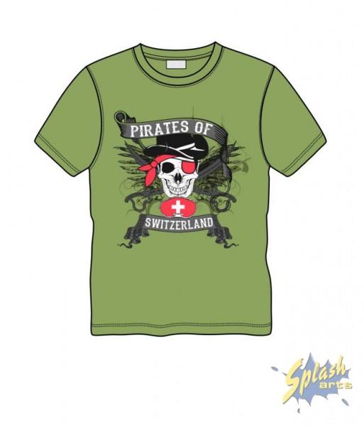 pirate scull green 8