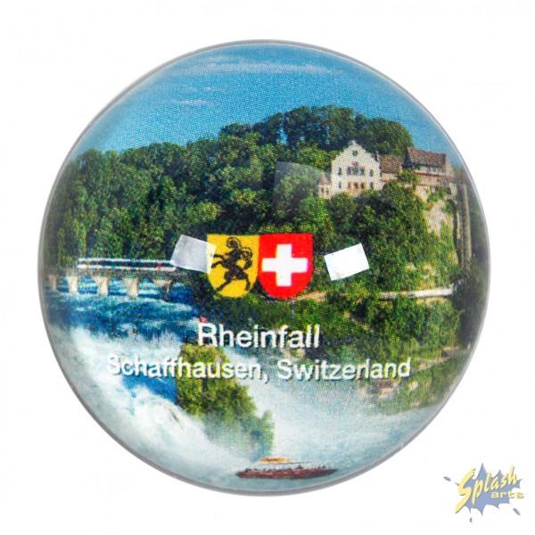 Rheinfall Glasmagnet rund