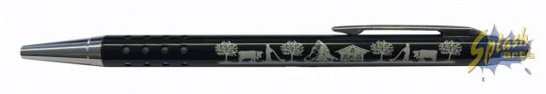 porte-clés mini stylo silhouette noir
