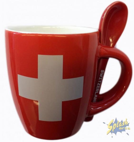 mug espresso croix suisse