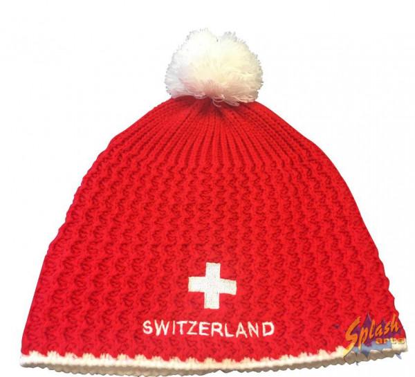 chapeau Switzerland rouge