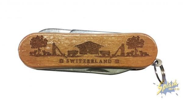 pocket-Knife wood paper cut